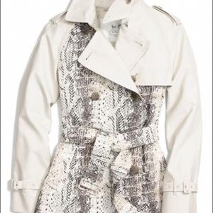 Coach Colorblock Python Short Trench Coat